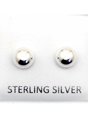 Wholesale Sterling Silver Ball Studs-6mm