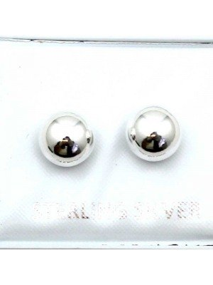 Wholesale Sterling Silver Ball Studs-8mm