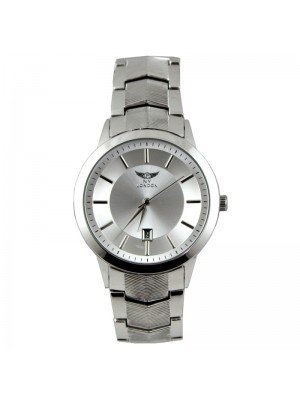 Wholesale NY London Mens Classic Date Display Metal Strap Watch - Silver