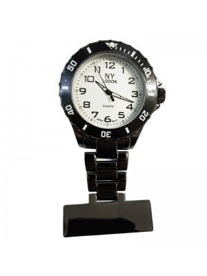 NY London Fashion Fob Watch - Black