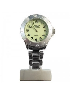 NY London Glow in The Dark Fashion Fob Watch - Silver