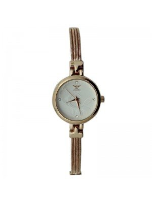 NY London Ladies Round Dial Bracelet Metal Strap Watch - Rose Gold