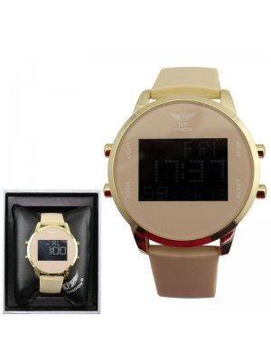 Wholesale NY London Men's Watch With Silicone Strap - Beige