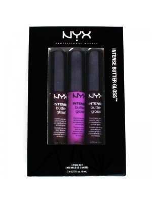 NYX Intense Butter & Creamy Lip Gloss 3 Piece Set - 04