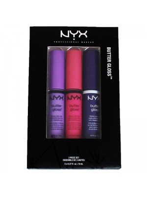 NYX Intense Butter & Creamy Lip Gloss 3 Piece Set - 08