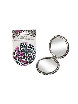 Royal Cosmetics Wild Butterfly Compact Mirror- 1x / 2x Magnification