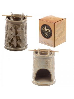 Wholesale Eden Embossed Geometric Ceramic Tower Oil Burner