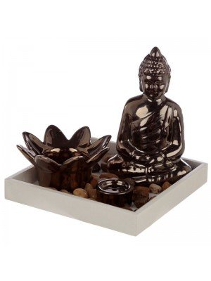 Eden Buddha Tea Light Holder & Incense Sticks & Cone Burner