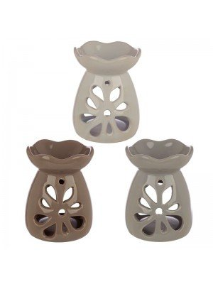 Wholesale Eden Ceramic Grey and Pastel Tone Floral Oil and Tart Burner