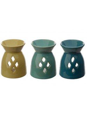 Matte Finished Ceramic Oil Burner - Assorted Colours