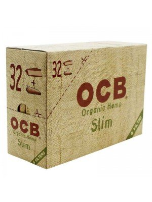 Wholesale OCB Organic Hemp Slim Rolling Papers + Filter Tips