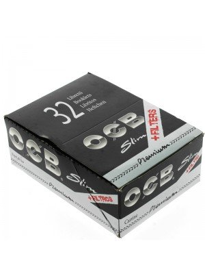 OCB Premium Rolling Papers Slim + Filters 32 Booklets