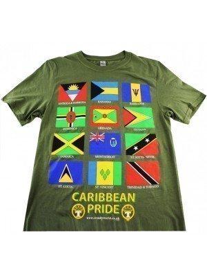 Olive Caribbean Pride T-Shirt