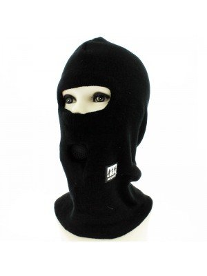 Mens Knitted One Hole Thinsulated Balaclava - Black