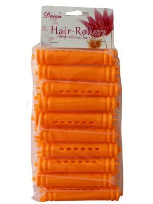 Wholesale Card Of 10 Hair Rollers - Orange