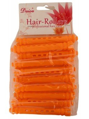 Card Of 10 Small Hair Rollers - Orange