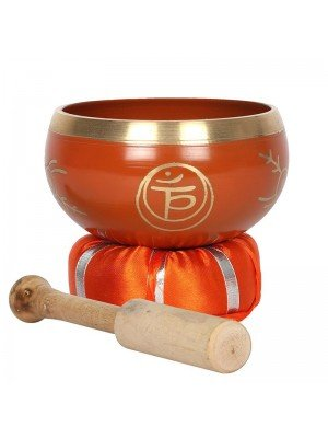 Wholesale Orange Sacral Chakra Brass Singing Bowl