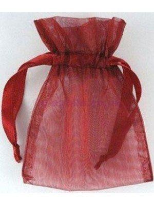 Organza Gift Bags Burgundy (7.5x 10cm)