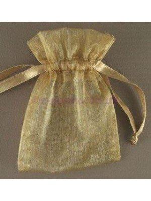 Organza Gift Bags Gold (7.5x 10cm)