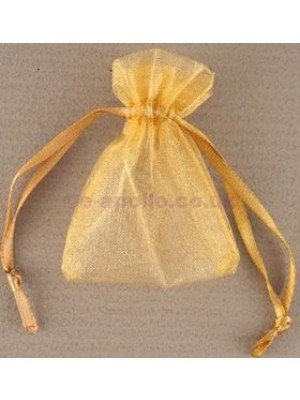 Organza Gift Bags Gold (5x 7cm)
