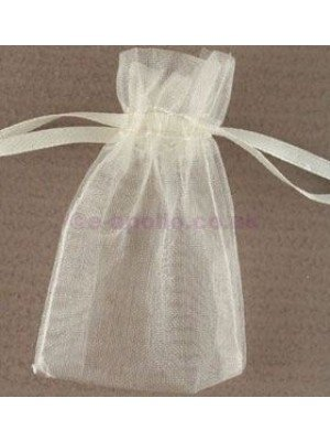 Organza Gift Bags Ivory (5x 7cm)