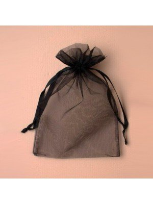 Wholesale Organza Gift Bag - Black (15x22cm)