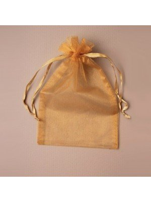 Organza Gift Bag - Dark Gold (15x22cm)