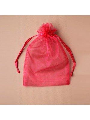 Organza Gift Bag - Fuchsia (15x22cm)