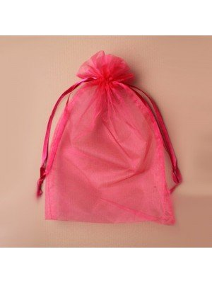 Organza Gift Bag - Fuchsia (21x30cm)