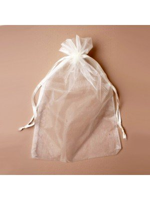 Organza Gift Bag - Ivory (21x30cm)