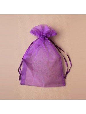Organza Gift Bag - Purple (15x22cm)
