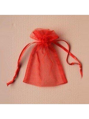 Organza Gift Bag - Red (11x15cm)
