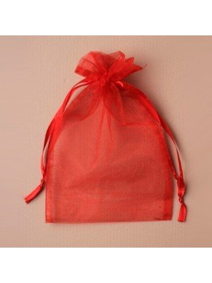Organza Gift Bag - Red (15x22cm)