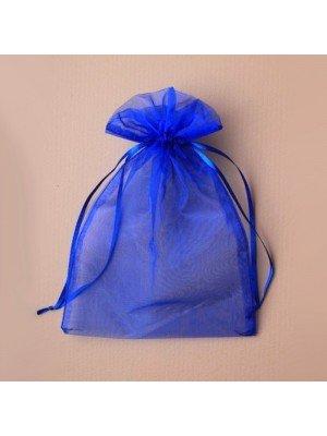 Organza Gift Bag - Royal Blue (15x22cm)