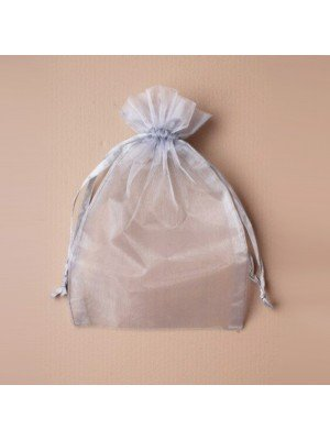 Organza Gift Bag - Silver Grey (15x22cm)