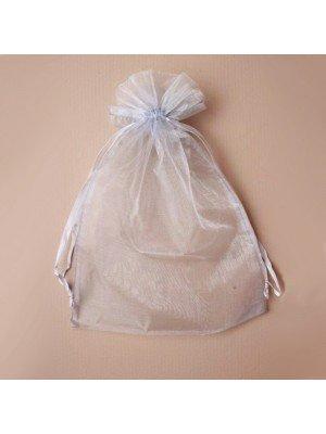 Organza Gift Bag - Silver Grey (21x30cm)