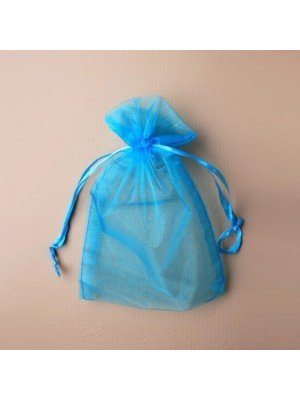 Organza Gift Bag - Turquoise (15x22cm)