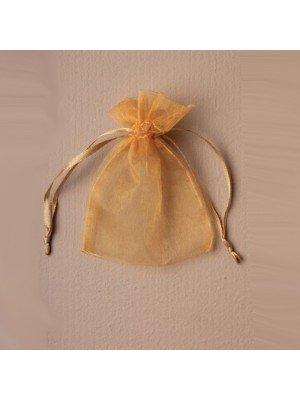 Organza Gift Bag - Dark Gold (11x15cm)