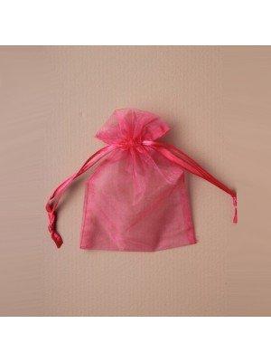 Organza Gift Bag - Fuchsia (7x10cm)