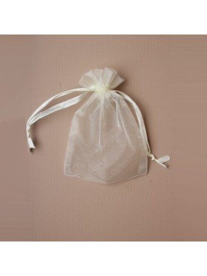 Wholesale Organza Gift Bag - Ivory (11x15cm)