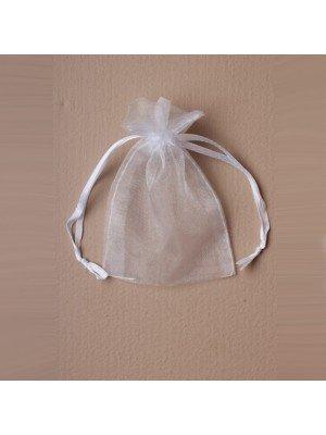 Organza Gift Bag - White (11x15cm)