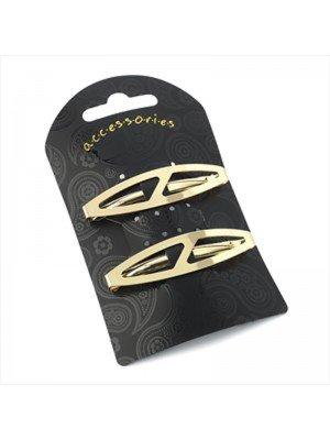 Oval Design Hair Clip (Gold)