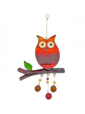Owl on a Branch - Sun catcher