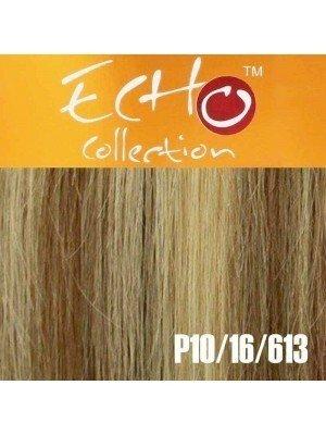 """Echo Human Hair Extensions - European Weave - Colour: P10/16/613 - 16"""""""