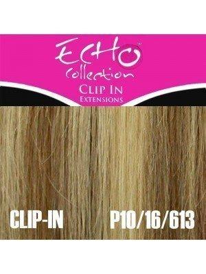 "Echo Human Hair Extensions - Clip-in - Colour: P10/16/613 - 18"""