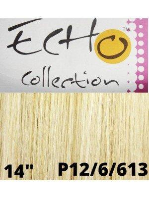 """Echo Human Hair Extensions - European Weave - Colour: 12/16/613 (14"""")"""