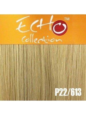 """Echo Human Hair Extensions - European Weave - Colour: P22/613 - 18"""""""