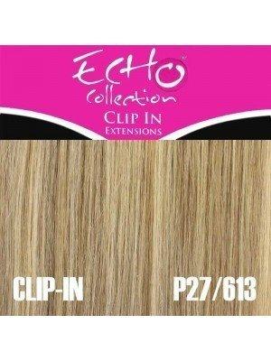 "Echo Human Hair Extensions - Clip-in - Colour: P27/613 - 14"""