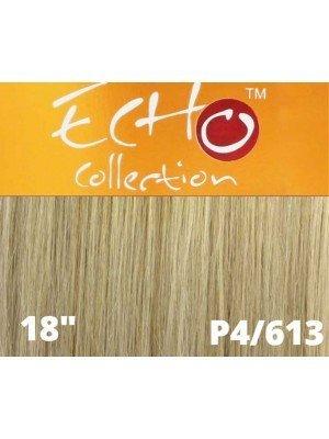 """Echo Human Hair Extensions - European Weave - Colour: 4/613(18"""")"""