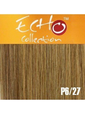 """Echo Human Hair Extensions - European Weave - Colour: P6/27 - 18"""""""